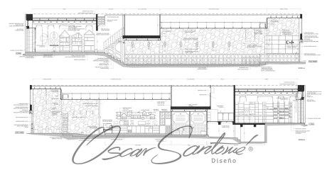 cafetería-planos oscar santome diseño-interiorista betanzos-diseño contract a coruña