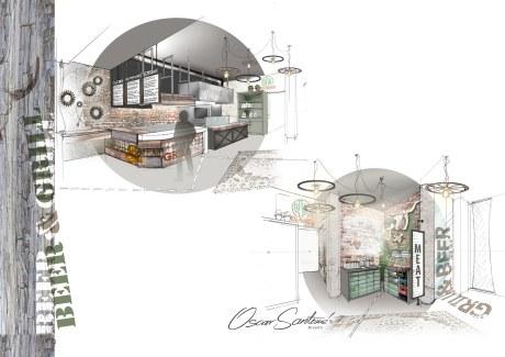 o tio xan-presentacion grill&beer a coruña-oscar santome diseño-interiorismo betanzos-diseño hostelería
