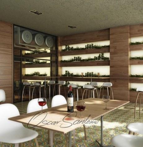 restaurante-infografía foto realista 3D-oscar santome diseño- interiorista betanzos-diseño hostelería a coruña