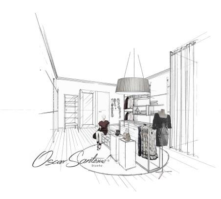 tienda-boceto tienda moda a coruña-oscar santome diseño-interiorismo betanzos-diseño retail