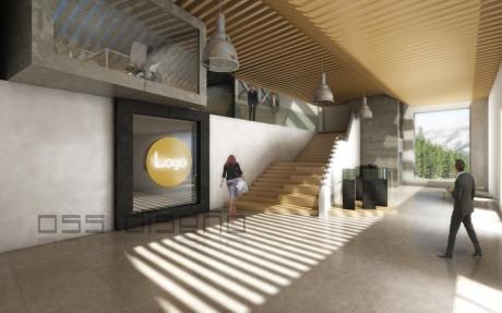 Anteproyecto- oss diseño- infografia 3D oficinas I+D+I-zona de trabajo e investigacion