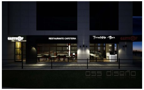 3D fachada terraza gasthof la grela 01-oss diseño-proyecto de decoracion-oscar santome