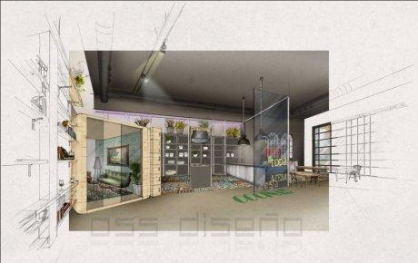 diseño restaurante_diseño resturante cocina abierta_oscar santome decorador coruña_estudio oss diseño_decoracion contract_estudio de decoracion betanzos