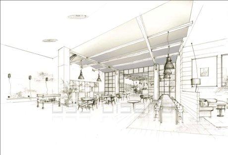 perspectiva pub vintage diseño1_oscar santome decorador coruña_estudio oss diseño_decoracion contract_estudio de decoracion betanzos