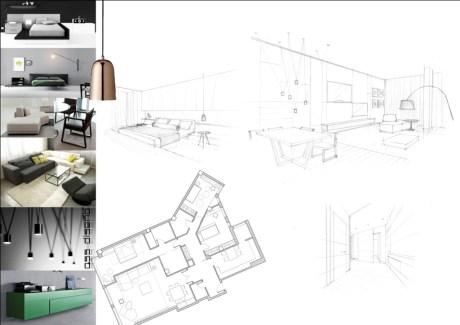 presentación y diseño  de piso en coruña-oscar santome-oss diseño-interiorismo-hogar y contract