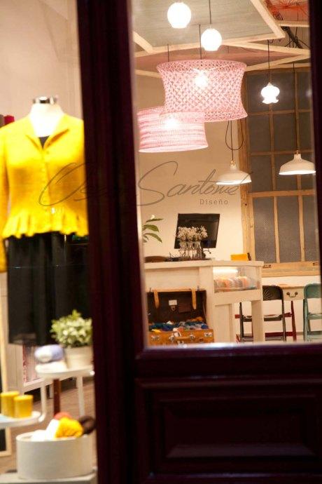 Oscar Santome Diseño- Diseño de tienda de lanas-Detalle zona expo02-Proyecto de interiorismo en edificio protegido ecléctico