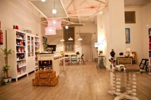 Oscar Santome Diseño- Diseño de tienda de lanas-Vista general 01-Proyecto de interiorismo en edificio protegido ecléctico