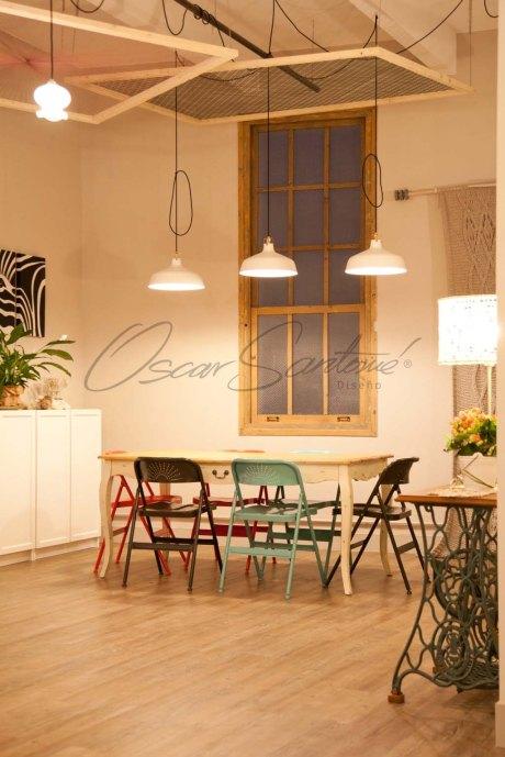 Oscar Santome Diseño- Diseño de tienda de lanas-Zona de cursos-Proyecto de interiorismo en edificio protegido ecléctico